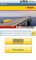 Screenshot of DHL ACTIVETRACING