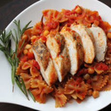 Skillet Whole Wheat Pasta with Chicken and Chickpeas