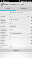 Screenshot of RCM Dimensionamento