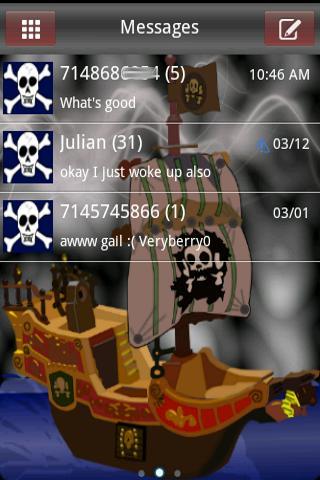 Pirates HD Go SmS Theme