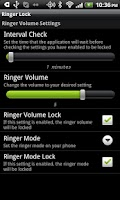 Screenshot of Ringer Lock