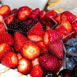 summer feast by Vibeke Friis - Food & Drink Plated Food ( fruit platter, strawberries, blueberries,  )