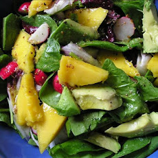 Spinach, Avocado & Mango Salad
