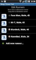 Screenshot of Bleep Fitness Test