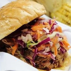 Pork Barbecue Sandwiches with Coleslaw