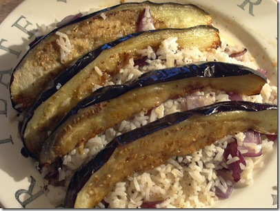 aubergines w. red onion fried rice3 2008.6.24