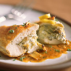 Stuffed Chicken Breasts with Artichoke Hearts and Goat Cheese