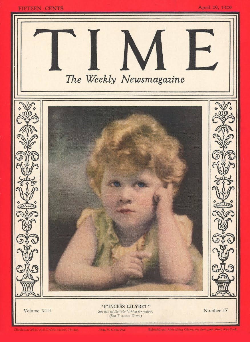 Princess Elizabeth: Time, 1929
