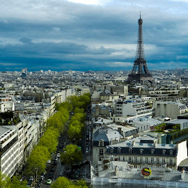 by Titus Criste - City,  Street & Park  Skylines ( eiffel tower, paris, france, nikon, p500,  )