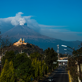 Smoking volcano at Puebla by Cristobal Garciaferro Rubio - Landscapes Travel ( popo, mexico, puebla, popocatepetl )