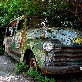 Lost Traveler by Tim Murphy - Transportation Automobiles ( car, old, d40, nikon, kansas, decay )