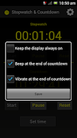 Screenshot of Stopwatch & Countdown