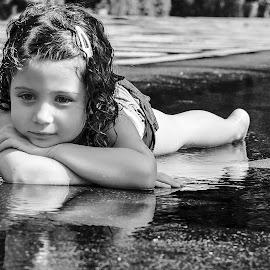 Sun relax by Alex Alex - Babies & Children Child Portraits ( girl, bw, children, little, kid )