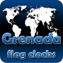 Grenada flag clocks icon