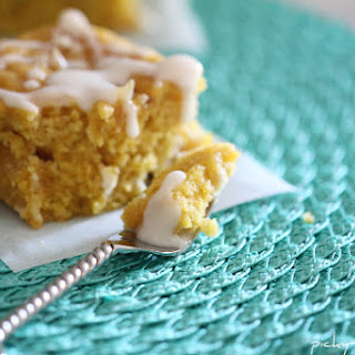 Pumpkin White Chocolate Chunk and Candied Ginger Blondies