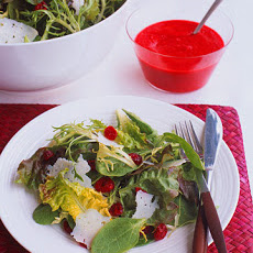 Red-and-Green Salad with Cranberry Vinaigrette