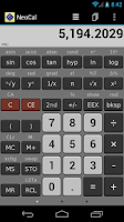 Screenshot of NeoCal Lite Calculator