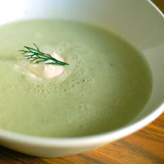 Creamy Courgette (Zucchini) or Cucumber Soup.