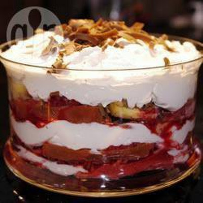Traditionele trifle (Engels toetje)