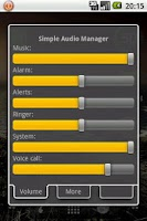 Screenshot of Simple Audio Manager
