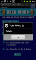 Screenshot of Beer Word (Drinking Game)