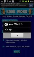 Screenshot of Beer Word (Drinking Game)