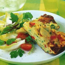 Potato, Sweetcorn And Pepper Frittata