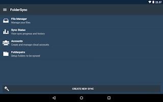 Screenshot of FolderSync