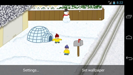 Snow Battle LiveWallpaper LITE - screenshot