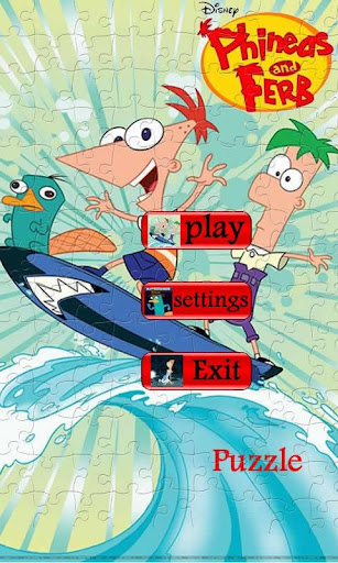 phineas-and-ferb-puzzle for android screenshot
