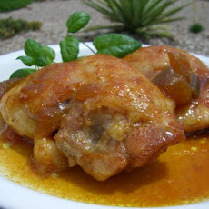 Chicken Thighs in a Mango Curry Marinade
