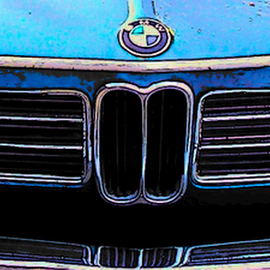 CLASSIC BMW by William Thielen - Novices Only Objects & Still Life ( urban, iconic, emblem, grill, seattle, blue, automobile, 2002, street, bmw, sporty,  )