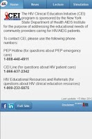 Screenshot of CEImobile: Clinical Education