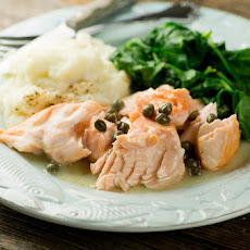 Salmon in Buttered White Wine Sauce