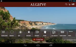 Screenshot of Algarve Travel Guide - Tourias