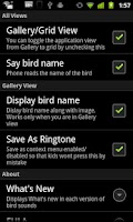 Screenshot of Bird Sounds & Ringtones