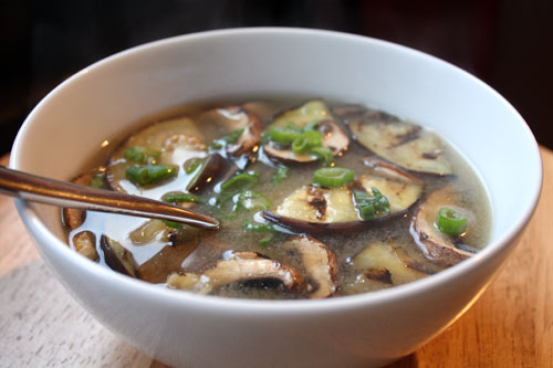 Miso Soup with Grilled Eggplant and Mushrooms Recipe | Yummly