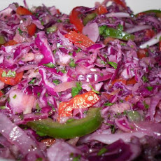 Jicama Cilantro Red Cabbage Slaw