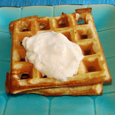 Michael White's Whole-Wheat Peanut Butter Waffles