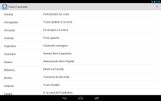 Screenshot of Piadas para celular