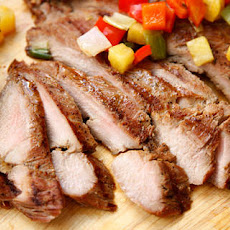 Grilled Pork Tenderloin with Pineapple and Bell Peppers