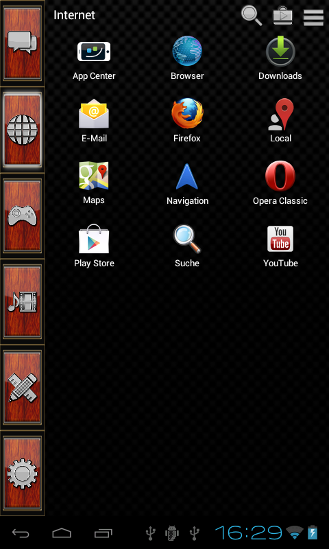 Smart Launcher theme Wood Screenshot 1