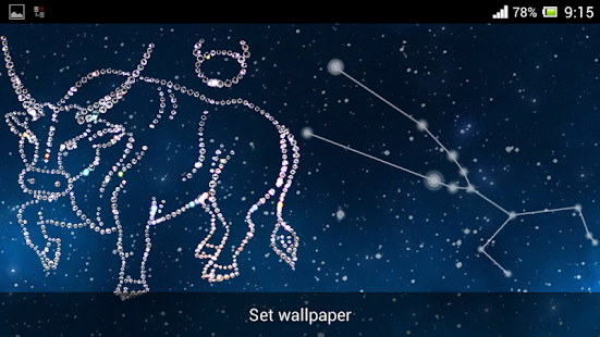 Zodiac Taurus Live Wallpaper - screenshot