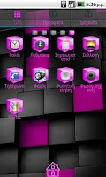 Screenshot of Pink Cube Theme GO Launcher EX
