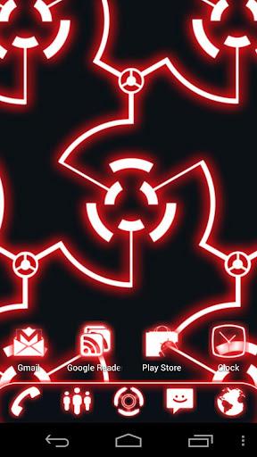 グローは、ランチャーEXのテーマレッド·ゴー|玩個人化App免費|玩APPs