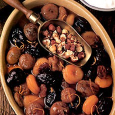 Dried Fruit Salad with Yoghurt and Nuts