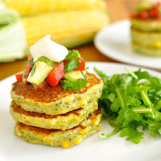 Bill Grangers Corn Fritters with Avocado Salsa