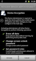 Screenshot of Galaxy Device Encryption FREE