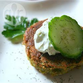 Falafel with Yoghurt Cucumber Sauce