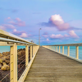 Jetty by Simon Tidd - Buildings & Architecture Bridges & Suspended Structures ( bay, brisbane, pier, jetty, beach )